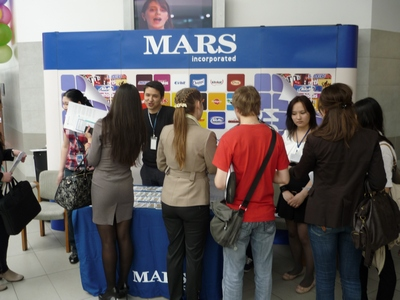 KIMEP Job Fair 2012. Стенд Mars