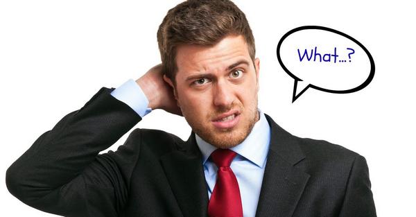 "Мужчина не понимает по-английски. Спрашивает: ""What?"""